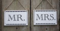 Vintage Styled 'Mr & Mrs' Signs
